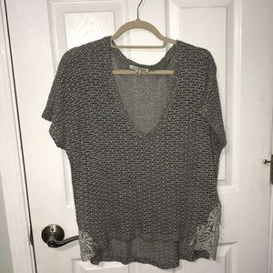 Gray Knit American Eagle Shirt